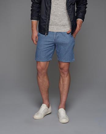 ANF A&F True Indigo Dye Preppy Fit Shorts