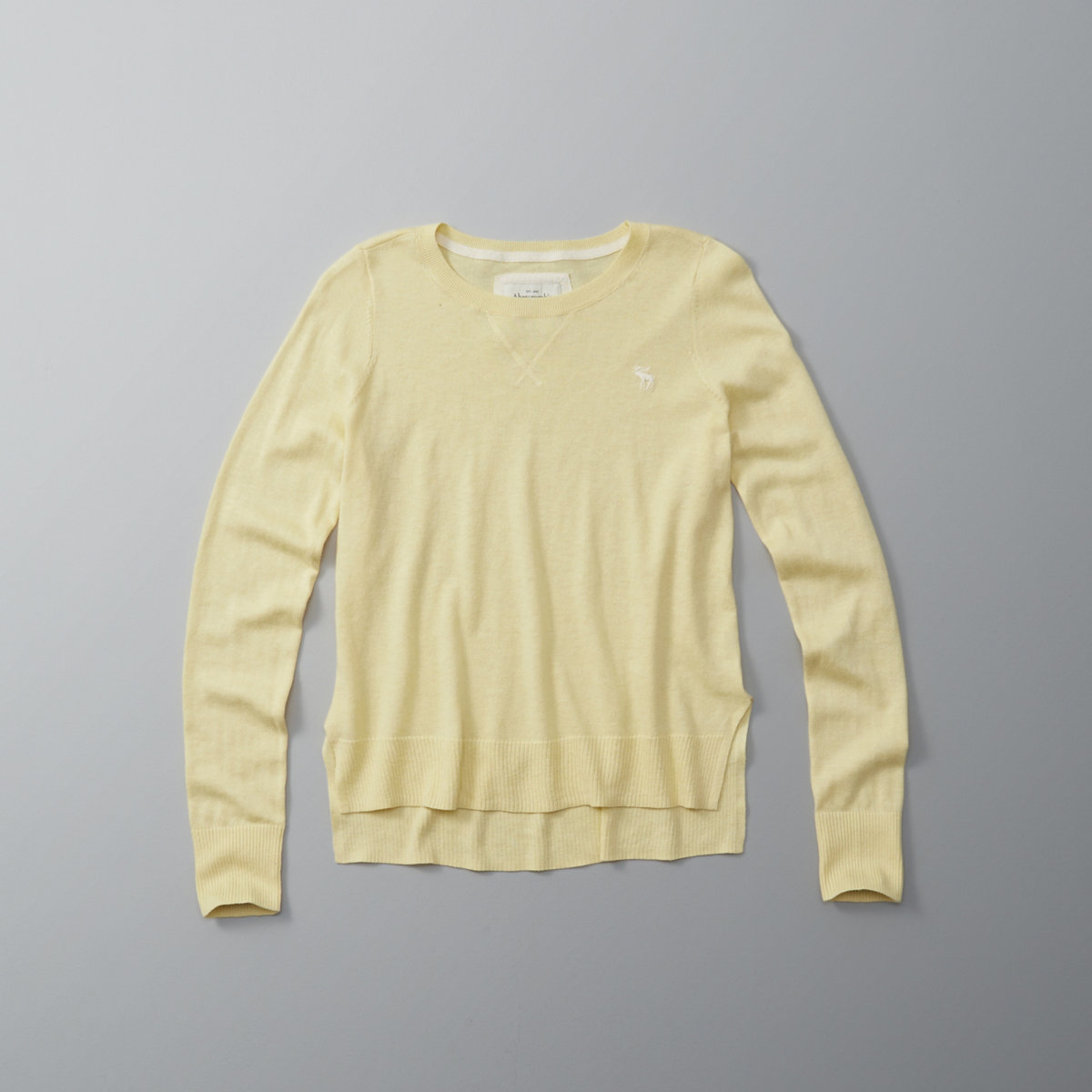 Split Hem Crew Sweater