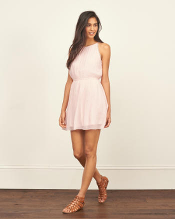 Womens Chiffon Skater Dress