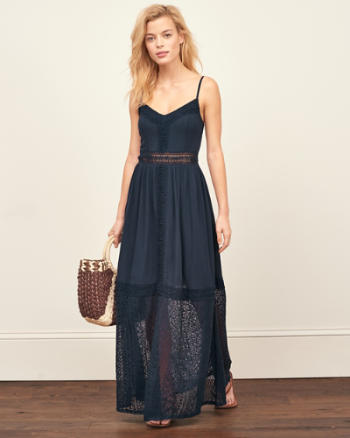 ANF Lace Panel Maxi Dress