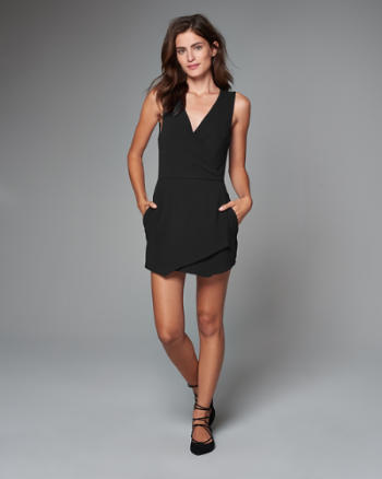 Womens Wrap Front Romper
