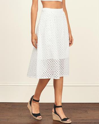 ANF Eyelet Midi Skirt
