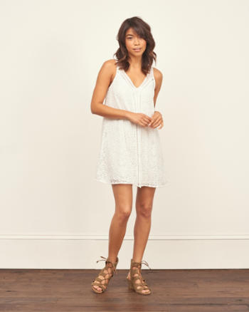 Womens Lace Mini Dress