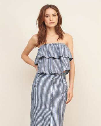 ANF Stripe Strapless Top