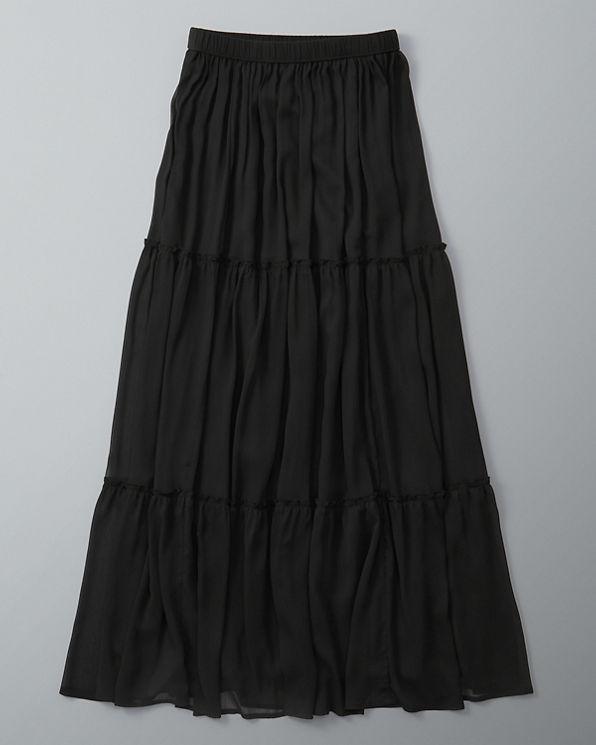 womens tiered maxi skirt womens bottoms abercrombie