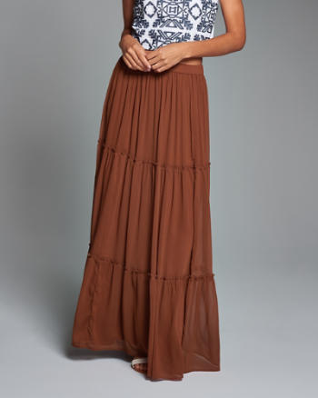 ANF Tiered Maxi Skirt