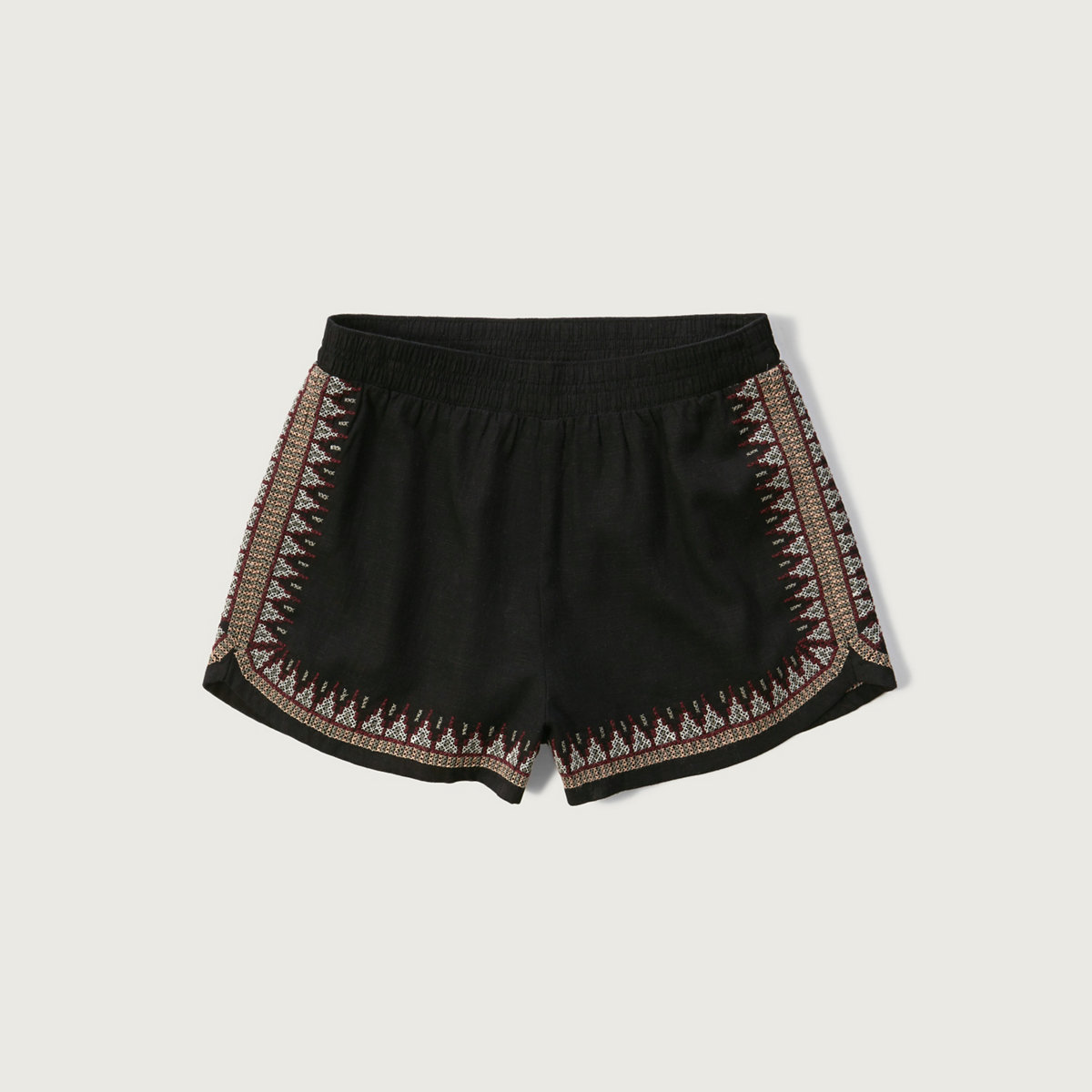 Embroidered Linen Soft Shorts
