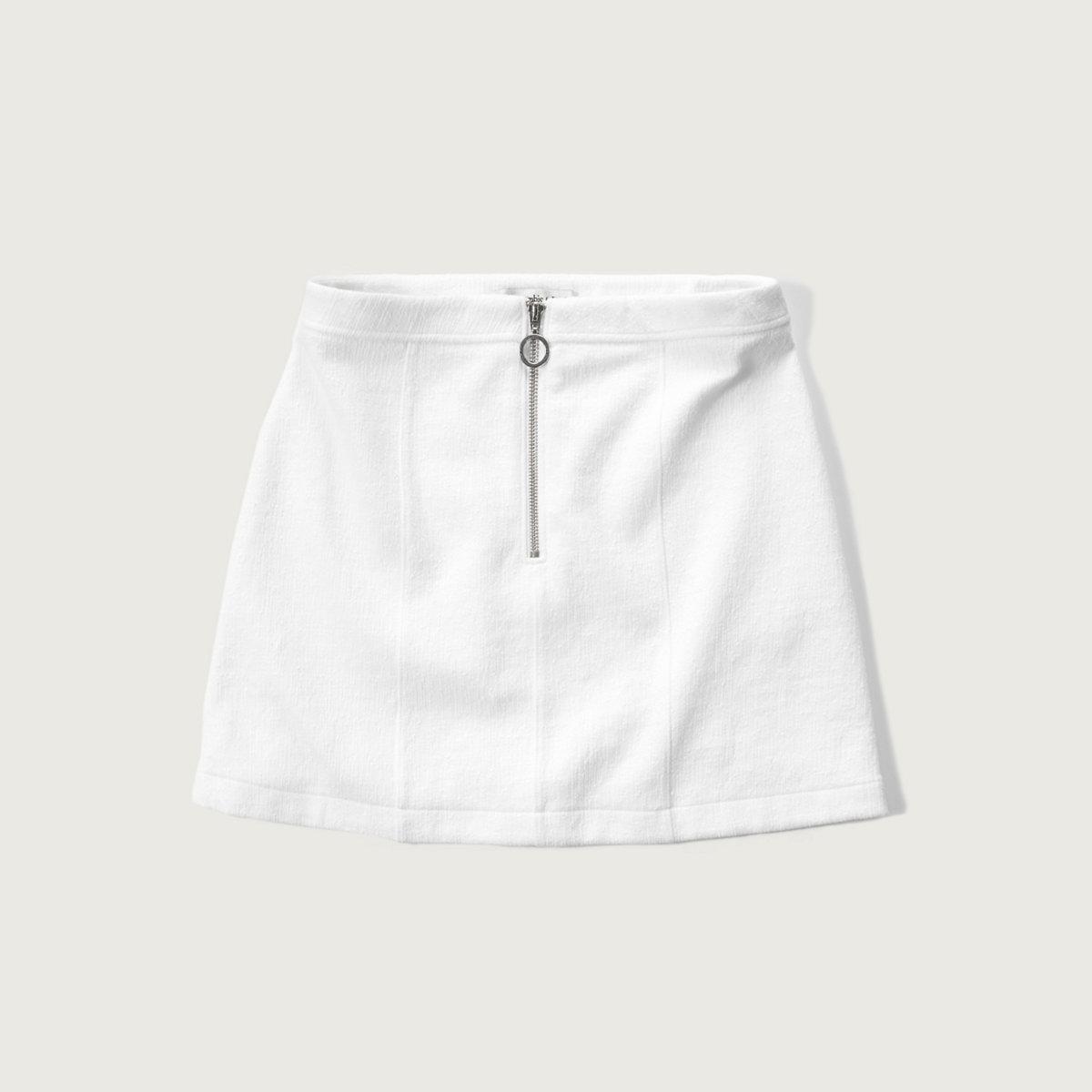 Bubble Knit A-Line Skirt