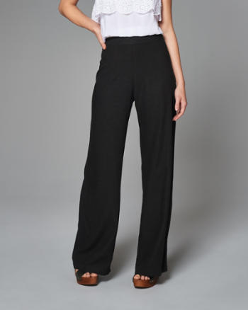 Womens Linen Wide Leg Pants