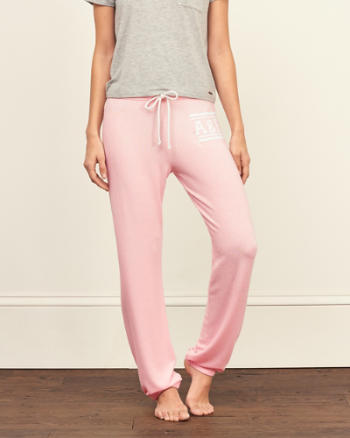 Womens Banded Boyfriend Sweatpants