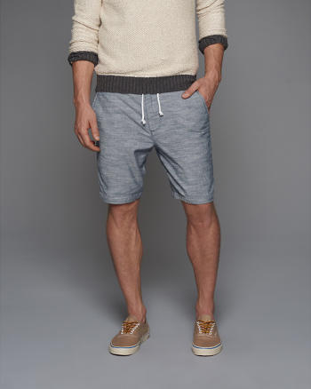 ANF Classic Fit Chambray Pull-On Shorts