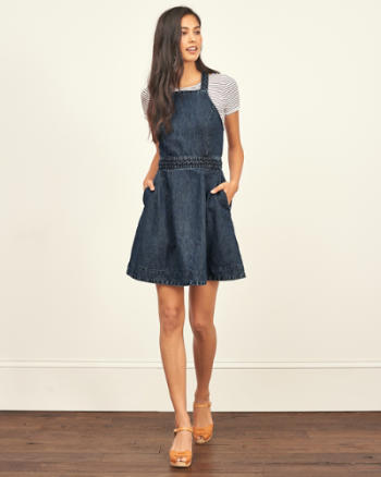 Womens Denim Skater Dress