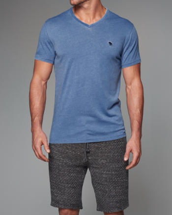 Mens Burnout V-Neck Tee