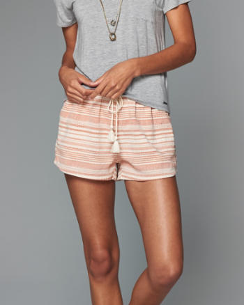 Womens Stripe Soft Short