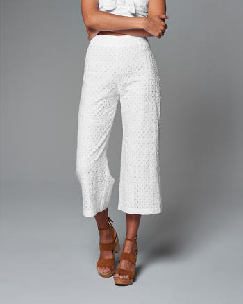 ANF Cropped Wide Leg Pants