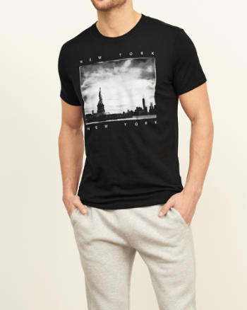 Mens Faded Message Graphic Tee