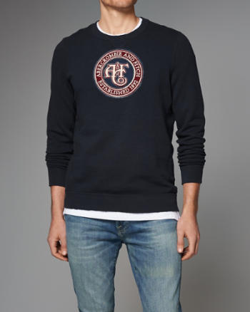 Mens Heritage Logo Graphic Sweatshirt