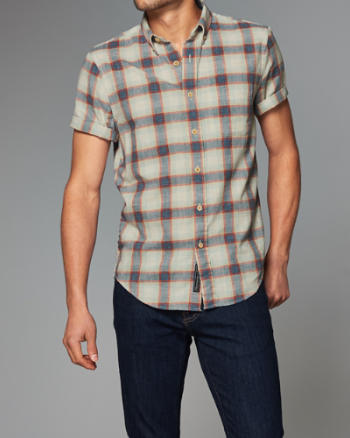 Mens Homespun Chambray Shirt