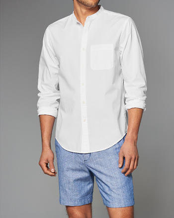 ANF Banded Cotton Poplin Shirt