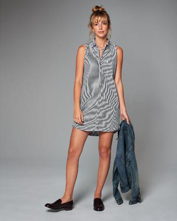 ANF Sleeveless Shirt Dress