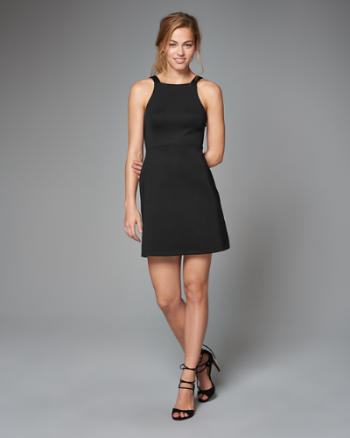 ANF Neoprene Square Neck Dress