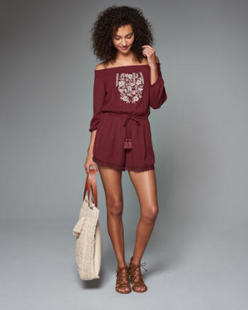 Womens Off the Shoulder Romper