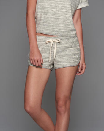 Womens Curved Hem Shorts
