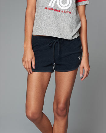 ANF Terry Curved Hem Shorts