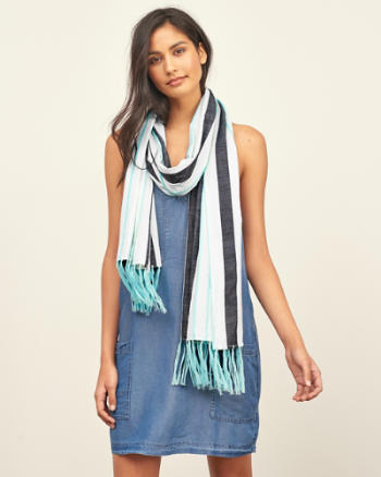 Womens Tassel Trim Scarf