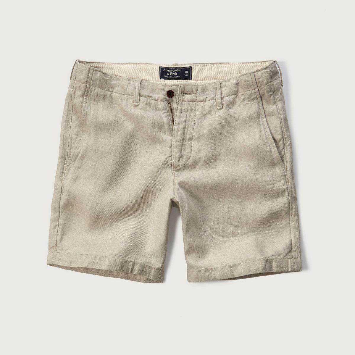 Linen Preppy Fit Shorts