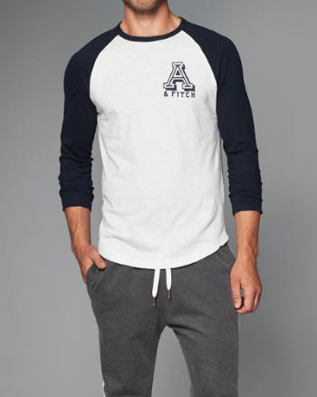 Mens Burnout Raglan Tee