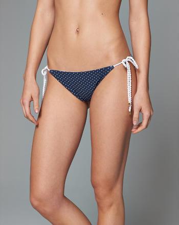 ANF Reversible Polka Dot Bikini Swim Bottom