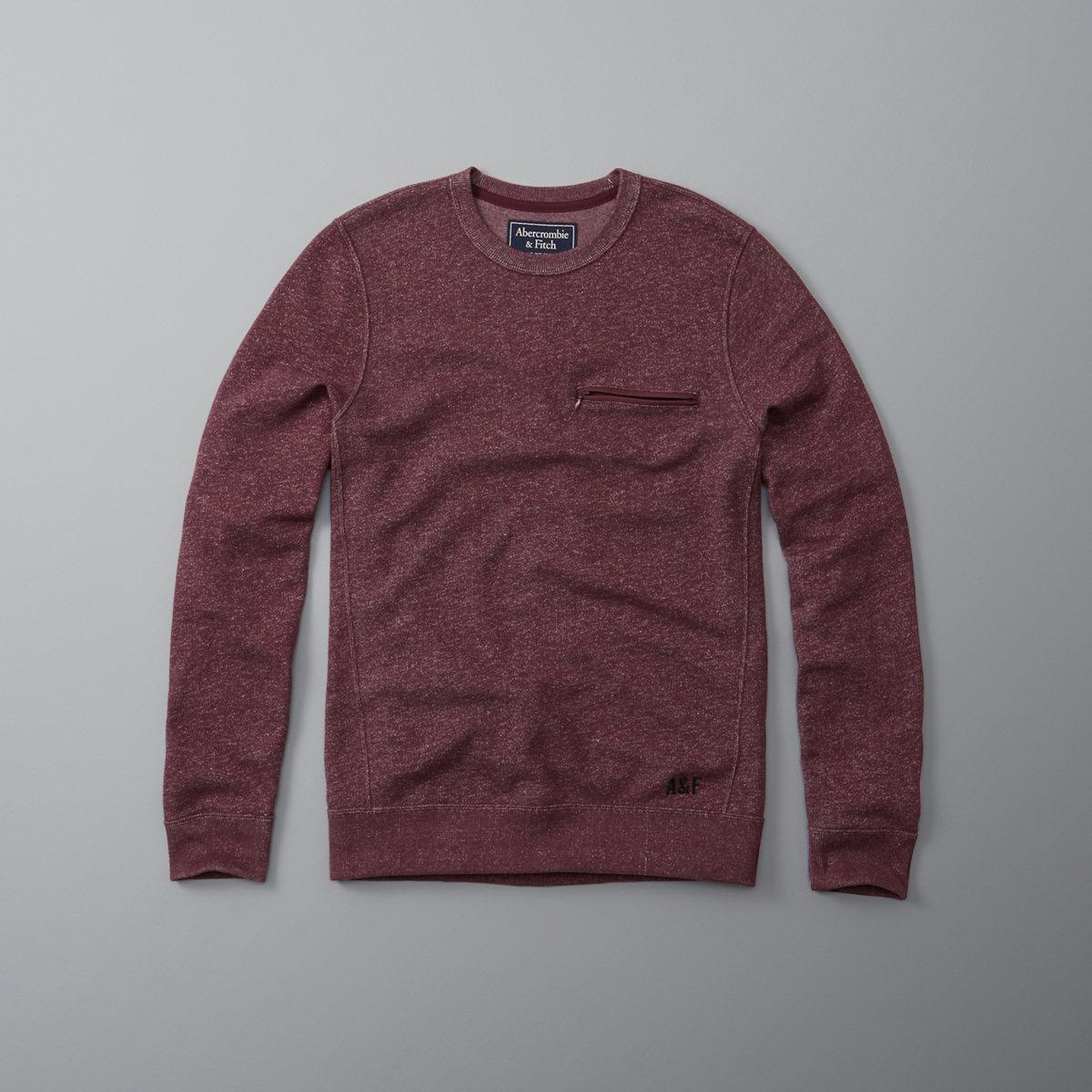 Active Zip-Pocket Crew Sweatshirt