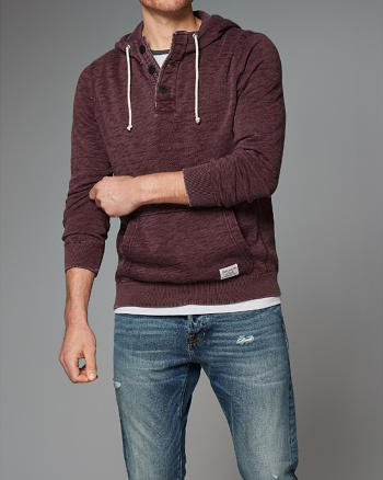ANF Burnout Henley Hoodie