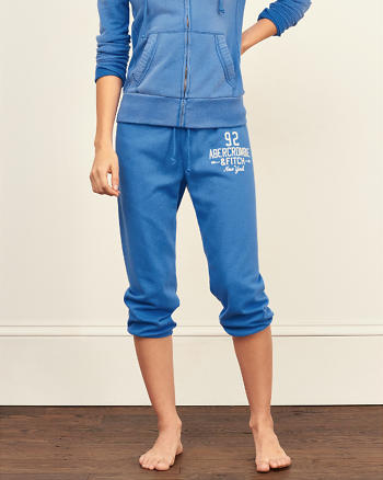 ANF A&F Banded Crop Sweatpants
