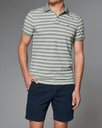 ANF Striped Polo