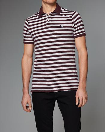 ANF Striped Polo