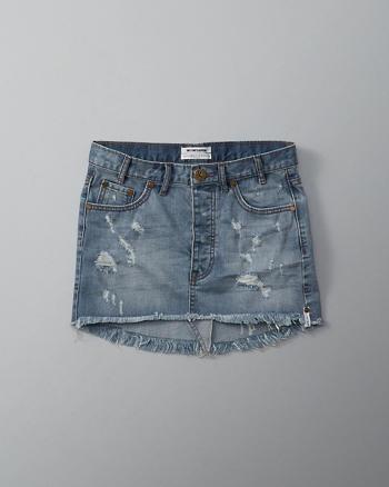 ANF One Teaspoon Junkyard Denim Mini Skirt