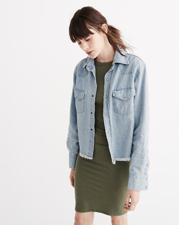 ANF OneTeaspoon Alaskan Cropped Denim Shirt