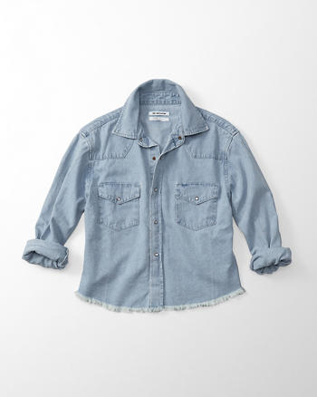 ANF One Teaspoon Alaskan Cropped Denim Shirt