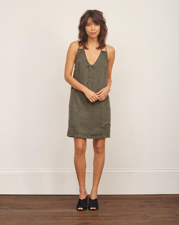 ANF Strappy Slim Shift Dress