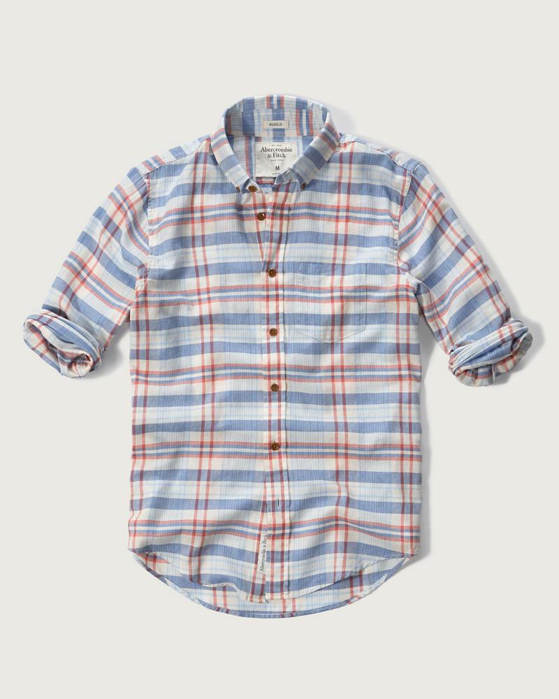 Anf madras plaid shirt anf mens for Mens madras shirt sale