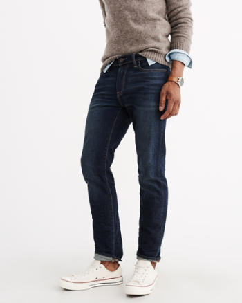 ANF Slim Straight Everyday Stretch Jeans
