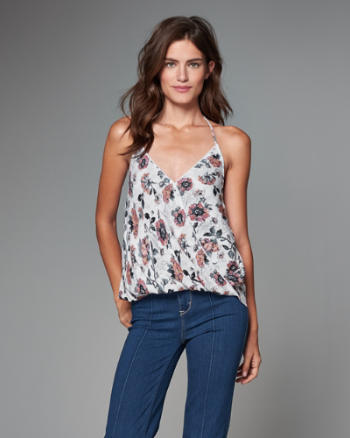 Womens Wrap Front Halter Cami