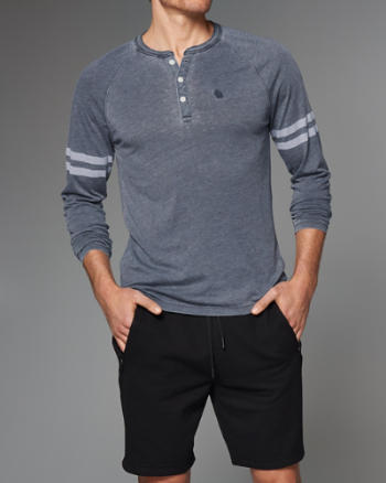 Mens Burnout Henley