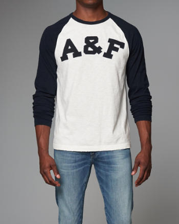 Mens Logo Graphic Baseball Tee