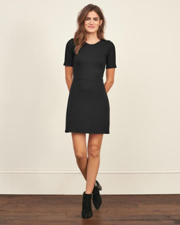 Womens Ribbed Skater Dress