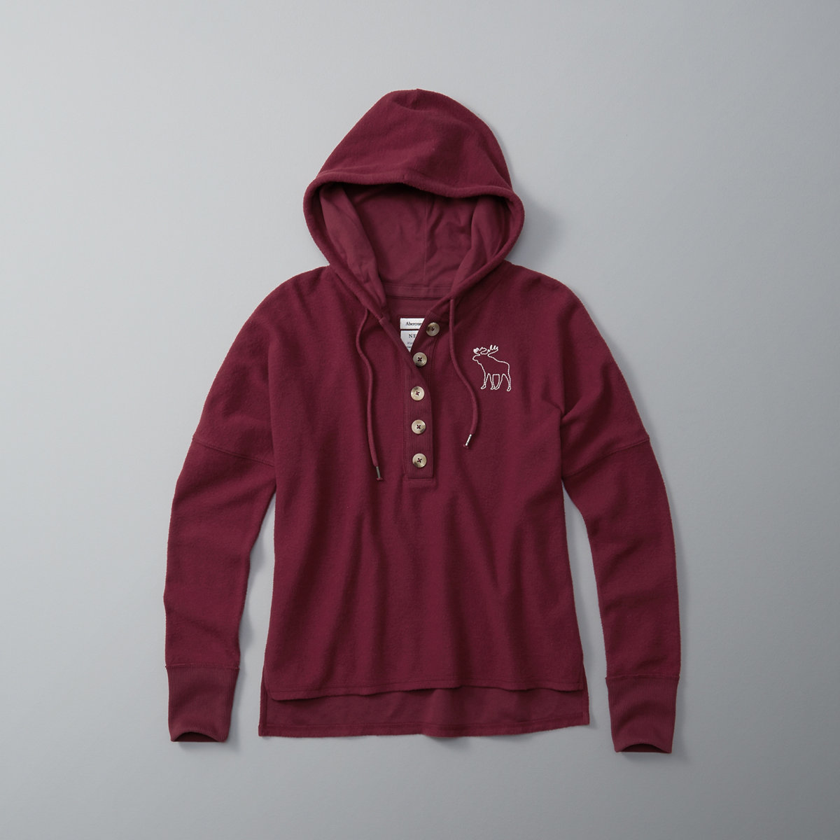 Button-Front Hoodie
