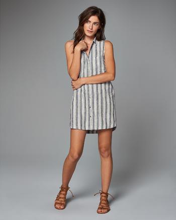 ANF Striped Shirt Dress