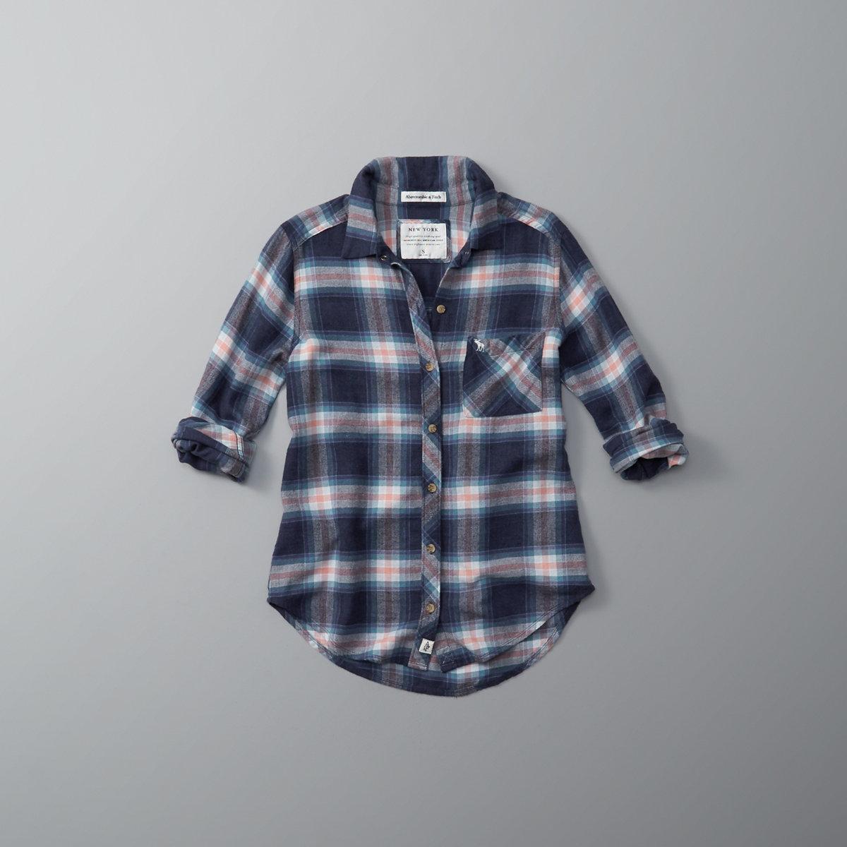 Lightweight Flannel Button-Up Shirt